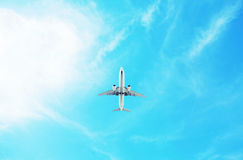 The airplane royalty free stock photography