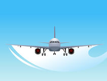 Airplane. Design with blue background Royalty Free Stock Image