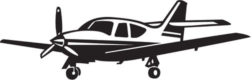 Airplane. Line Art Illustration of an Airplane Royalty Free Stock Images