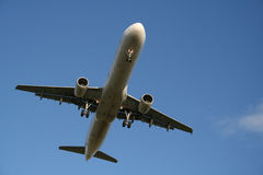 Airplane. Landing Stock Image