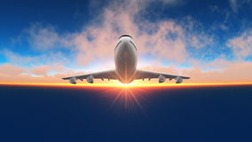 Airplane. Image of taking off airplane Stock Photos