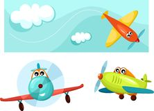 Airplane. Vector illustration of a airplane Royalty Free Stock Image