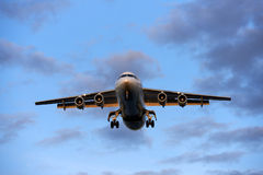 Airplane. An airplane just before landing Royalty Free Stock Photos