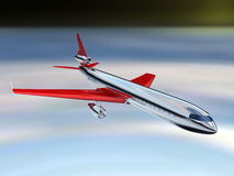 AIRPLANE. 3d Illustration of airplane, top view Stock Photo