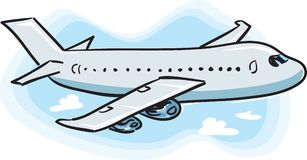 Airplane stock illustration