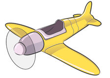 Airplane 3d Model Derivative. A vector derivative of an airplane 3d model. Based on stunt plane concept Stock Images