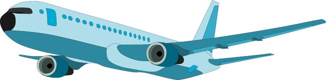Airplane. Vector - airplane flying from backgroud Stock Images