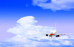 Airplane. Isolated over sky background Royalty Free Stock Photo