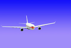Airplane. Isolated over sky background Royalty Free Stock Photography