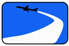 Airplane. The airplane with a blue background royalty free illustration