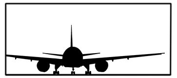 Airplane. The airplane with a white background royalty free illustration