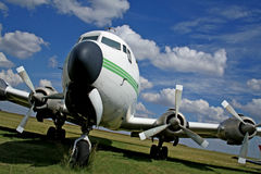 Airplane. Old passenger airplane Royalty Free Stock Images