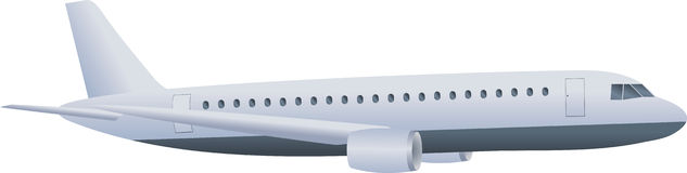Airplane. Illustration of an airplane on a white background Stock Photography