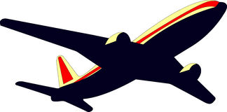 Airplane. Picture of airplane stock illustration
