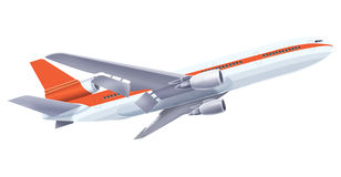 Airplane. An airplane with isolated background Royalty Free Stock Image