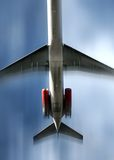 Airplane. In motion royalty free stock image