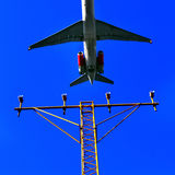 Airplane. In motion royalty free stock photos