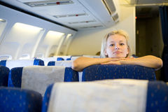 In the airplane Royalty Free Stock Photography
