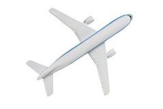 Airplane. Model jet airplane on white Royalty Free Stock Photo