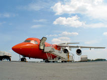 Airplane. A airplane getting feed for tack off Royalty Free Stock Photo