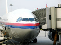 Airplane. An airplane ready for boarding Royalty Free Stock Photos