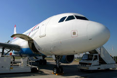Airplane. Big airplane on the tarmac Royalty Free Stock Images