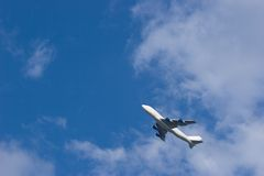 Airplane. Taking off Stock Photography