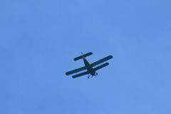 Airplane in action Royalty Free Stock Photography