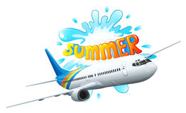 An airplane adventure for summer Royalty Free Stock Image