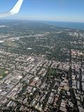 Airplane aerial view stock photos