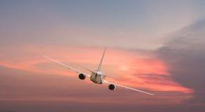 Airplane aft plane Royalty Free Stock Photo