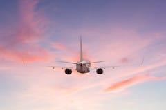 Airplane aft plane Stock Photo
