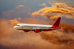 Airplane in air Royalty Free Stock Photos