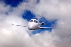 Airplane in air Stock Photo
