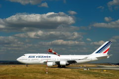 Airplane of Air France. Boeing 777. Stock Photography