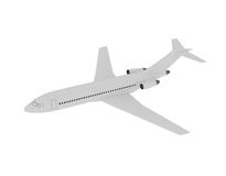 Airplane in the Air isolated on white. 3d illustration Stock Photography