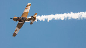 Airplane air show Stock Images
