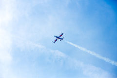 Airplane on air show Stock Photography
