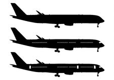 Airplane. Airbus black collection vector Stock Photo
