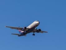 Airplane Airbus A320, I. Kruzenshtern Royalty Free Stock Photography
