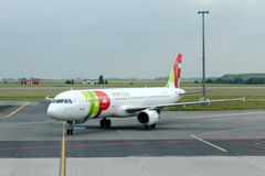 Airplane Airbus A321-211 of TAP Portugal Airlines Stock Images