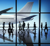 Airplane Aircraft Airport Business Travel Flight Concept Royalty Free Stock Image