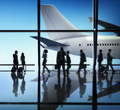 Airplane Aircraft Airport Business Travel Flight Concept Stock Photography