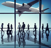 Airplane Aircraft Airport Business Travel Flight Concept Stock Photo