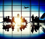 Airplane Aircraft Airport Business Travel Flight Concept. Airplane Aircraft Airport Business Travel Flight Transport Concept Royalty Free Stock Photo
