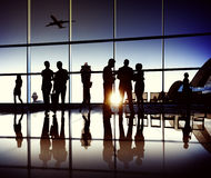 Airplane Aircraft Airport Business Travel Flight Concept Royalty Free Stock Photos
