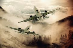 Airplane, Aircraft, Aviation, Sky royalty free stock photography