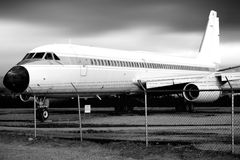 Airplane on airplane cemetery Royalty Free Stock Image