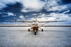 Airplane at the airport. Stock Photo