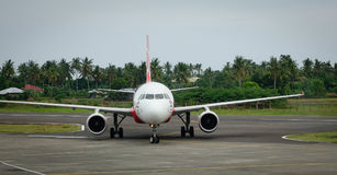 An airplane at the airport in Manila, Philippines Royalty Free Stock Photo